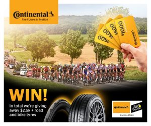 Continental Tyres of Australia – Win a set of Continental branded Car, 4×4 or SUV tyres and more