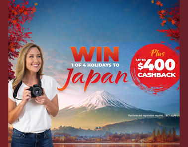 Globalrez AirConditioning – Win 1 of 4 holidays for 2 to Japan