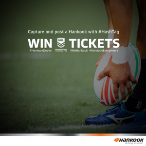 Hankook Tyre Australia – Win 1 of 10 NRL general admission double tickets