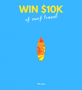 The Perfect Wave – Win a Surf travel prize package valued at $10,000