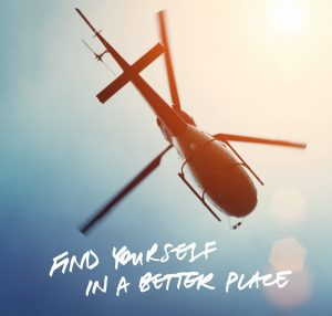 Upstate – Win a return helicopter flight for 4 PLUS a wine and dine voucher
