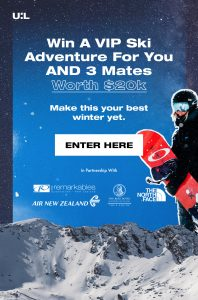 Urban List – Win a Ski Adventure for 4 in Queenstown, New Zealand