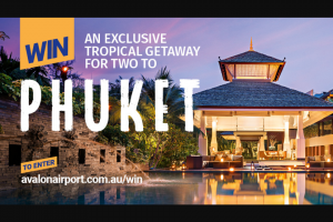 Avalon Airport – Win this Prize (prize valued at $5,400)