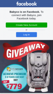 BabyCo – Win this Awesome Infasecure Achieve Premium (day) Car Seat Worth $779 (prize valued at $779)