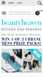 Beauty Heaven – Win 1 of 3 Urbane Mess Prize Packs (prize valued at $110.43)