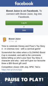 Boost Juice – Win One of Three Boost Gift Cards
