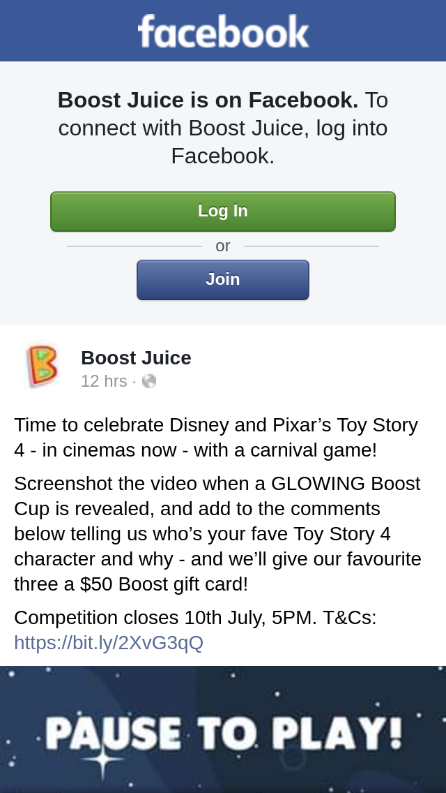 Boost Juice – Win One of Three Boost Gift Cards   Australian