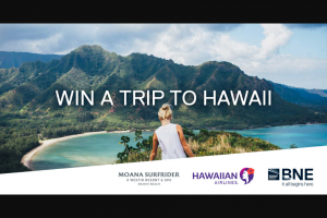 Brisbane Airport – Win a Holiday to Hawaii Including (prize valued at $9,043)