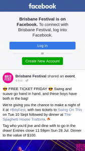 Brisbane Festival – Win You $1000. Tell Us In The Comments In 100 Words Or Less About a Time Price Protection Could Have/has Saved You $$$ (prize valued at $160)
