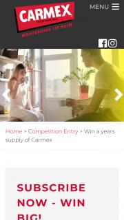 Carmex – Win a Years Supply of Carmex