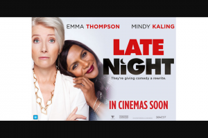 Community News – Win One of 20 Double In-Season Passes to See Late Night