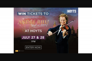 Community News – Win One of 10 Double Passes to See André Rieu – shall We Dance
