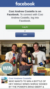 Cosi Andrew Costello – Win a Bottle of Hey Diddle Wines Shiraz Signed By The Power's Brad Ebert & Tom Jonas?