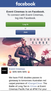 Event Cinemas Australia Fair – to Sunday's Australian Red Carpet Premiere of #dangerclose