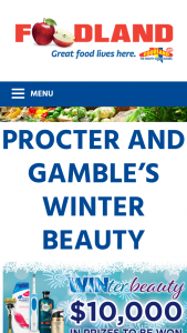 Foodland-Proctor & Gamble – Will Be (prize valued at $10,000)
