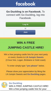 Go Duckling – Win a Free Jumping Castle Hire