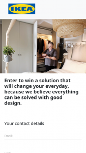 IKEA – Win 1/30 Bedroom Or Living Room Makeovers