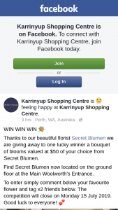 Karrinyup Shopping Centre – Win One of Five Double Passes to The Movies (prize valued at $50)