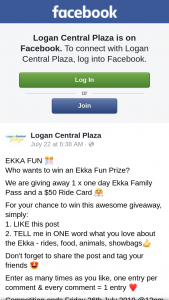 Logan Central Plaza – Win an Ekka Fun Prize