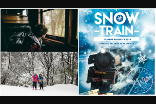 Mamma Knows West – a Trip for 4 on The Steamrail Victoria Snow Train (prize valued at $438)