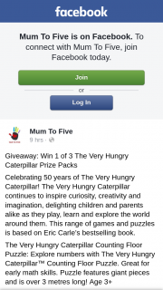 Mum to Five – Win 1 of 3 The Very Hungry Caterpillar Prize Packs