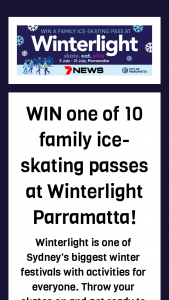 7News Sydney – Win a Family Ice-Skating Pass at Winterlight Parramatta
