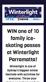 7News Sydney – Win a Family Ice-Skating Pass at Winterlight Parramatta
