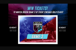 Nova Brisbane 106.9FM – Tickets for You and a Mate to Nova's Gold Class Screening of State of Origin Game 3 at Event Cinemas