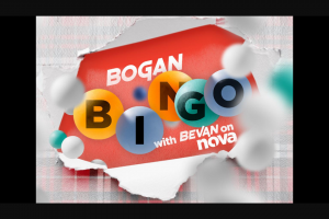 Nova 106.9 FM Bevan's Bogan Bingo – Win a Bali Holiday for Two