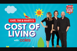 Nova FM Kate Tim & Marty's Cost of Living with Coles – Win One (1) Prize Each