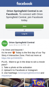 Orion Springfield Central – Win a Movie Pass