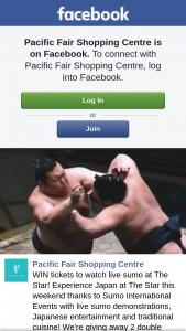Pacific Fair Shopping Centre – Tickets to Watch Live Sumo at The Star (prize valued at $298)