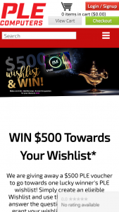 PLE Computers – Win $500 Towards (prize valued at $500)