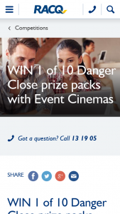 RACQ – Win 1 of 10 Danger (prize valued at $700)