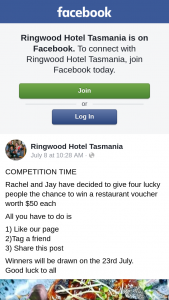 Ringwood Hotel Tasmania – Win Ticket to See I Am Mother Luna Leederville (prize valued at $200)