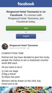 Ringwood Hotel Tasmania – Win Ticket to See I Am Mother Luna Leederville (prize valued at $200)