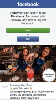 Runaway Bay Tavern – $100 Hotel Voucher