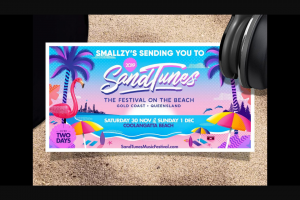Smallzy's sending you to SandTunes on the Gold Coast – Win a Trip for Two to The Gold Coast