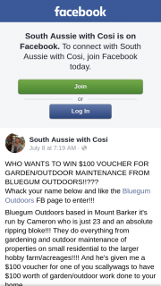 South Aussie With Cosi – Win $100 Voucher for Garden/outdoor Maintenance From Bluegum Outdoors??