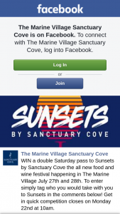 The Marine Village Sanctuary Cove – Win a Double Saturday Pass to Sunsets By Sanctuary Cove The All New Food and Wine Festival Happening In The Marine Village July 27th and 28th