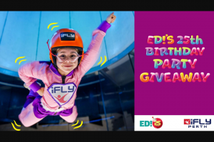 The West Australian – Win a Indoor Sky Diving Birthday Party at Ifly (prize valued at $599)
