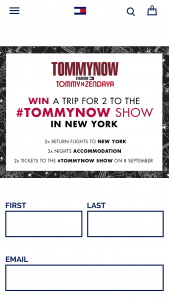 Tommy Hilfiger – Win a Trip for 2 to The #tommynow Show In New York (prize valued at $9,500)