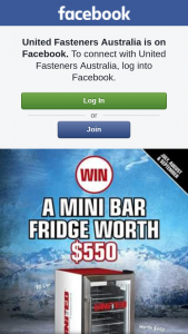 United Fasteners – Win a Mini Bar Fridge Worth $550 (prize valued at $1,650)