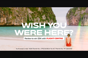 Whitecoat Operating Pty Ltd -Review your Practioner & – Win a $5000 Flight Centre Gift Card (prize valued at $5,000)