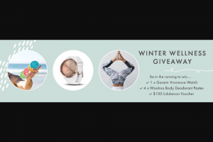 WoohooBody – Win The Winter Wellness Kit Valued Over $450 (prize valued at $450)