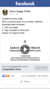 Zara's Doggy Treats – Win a Surprise Pack of Our Treats