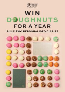 Catering Project – Win free doughnuts for a year PLUS 2 customised diaries