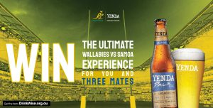 Coca-cola Amatil – Yenda Samoa Experience – Win 4 Platinum tickets to the Wallabies v Samoa Rugby Union game at Bankwest Stadium, Parramatta