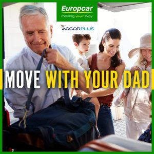 Europcar – Win a free overnight stay at any Accor Hotels for your Dad