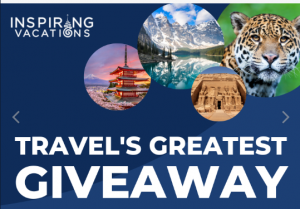 Inspiring Vacations – Win 1 of 7 trips